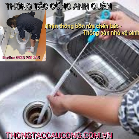 Đơn vị thông tắc cống phường Dịch Vọng