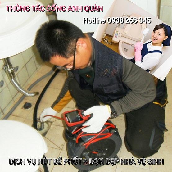 Thợ thông tắc vệ sinh tại Kim Liên