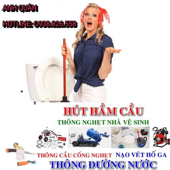 Thợ thông tắc cống giá rẻ tại phường Thịnh Quang gọi O938.268.345